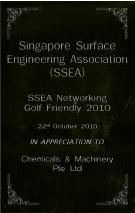 Singapore Surface Engineering Association Networking Golf Friendly 2010