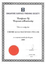 Singapore Surface Finishing Society (2001)
