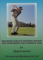 Singapore Surface Finishing Society SEIA Networking Golf Friendly 2006